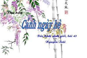 Phân tích bài thơ Cảnh ngày hè của Nguyễn Trãi hay nhất