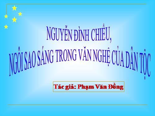 Soạn bài: Nguyễn Đình Chiểu, ngôi sao sáng trong văn nghệ của dân tộc