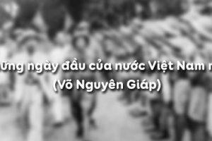 Soạn bài: Những ngày đầu của nước Việt Nam mới